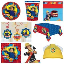 Fireman Sam Party Supplies Table Covers,Plates,Cups,Balloons,Loot Bags,Napkins