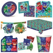 PJ Masks Kids Party Supplies Decorations -  Table Cover,Plates,Cups,Napkins,Bags