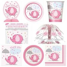 Pink Girl Baby Shower Party Supplies - Plates,Cups,Napkins,Banners,Table Covers
