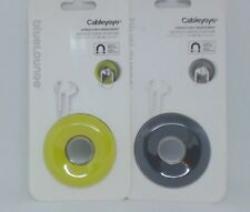 #532-3  NEW Bluelounge Cableyoyo Earbud/Cable Management Soft Silicone Rubber