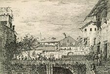 A4+ Size Print:Canal Antonio Canaletto Capriccio With Terrace. Padua #jwnh551-12
