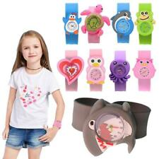 Cute Adorable Cartoons Children Slap Snap On Silicone Quartz Wrist Watch DFE8