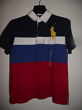 RALPH LAUREN NAVY LARGE PONY RUGBY TOP AGE 10-12,14-16 NWT RRP£65