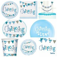 Blue Boy Christening Party Supplies Plates,Cups,Napkins,Balloons,Decorations