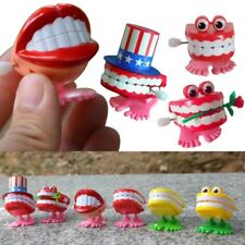 Child Wind Up Clockwork Jump Teeth Toy Baby Xmas Gift Creative Educational A32A