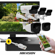 5 x 2MP CCTV Cam 8 CH PoE NVR IP67 Outdoor Wide Angle ICR CMOS Kit fr. Hikvision