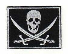 Tactical Army Morale Biker Motorcycle Patch Pirate Flag Skull & Swords