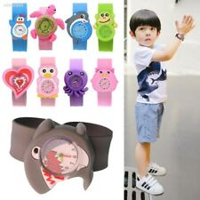 Cute Adorable Cartoons Children Slap Snap On Silicone Quartz Wrist Watch 87C5