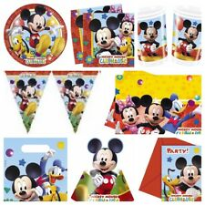 Disney Playful Mickey Mouse Clubhouse Party Supplies Plates,Cups,Napkins,Bags