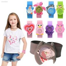 Cute Adorable Cartoons Children Slap Snap On Silicone Quartz Wrist Watch F65B