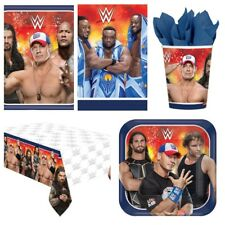 WWE Wrestling Boys Party Supplies Plates,Cups,Napkins,Banners,Table Covers