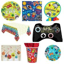 Epic Teen / Boys Gaming Party Supplies -Plates,Cups,Napkins,Banners,Decorations