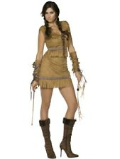 Adult Sexy Wild West Indian Pocahontas Ladies Fancy Dress Costume Party Outfit