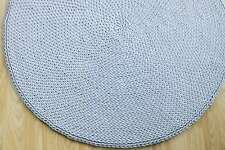 Made to order thick crochet round rug made of cotton/ nursery rug/cotton rope