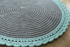 Made to order handmade round crochet rug/cotton rug/nursery rug/doily rug