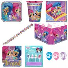 Shimmer & Shine Party Supplies Plates,Cups,Napkins,Swirls,Bags,Balloons,Banners