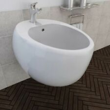 Ceramic Bath Wall Mounted Bidet Bathroom House Hotel Plumbing Accessories White
