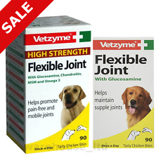 Vetzyme Joint Tablets for Dog, High Strength Flexible Joint Capsules 30, 90