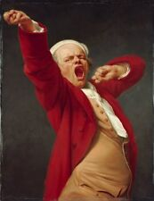 Self Portrait Yawning Joseph Ducreux French 1735 1802 by 1783 Vintage Art Poster