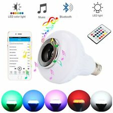 Wireless Bluetooth Speaker Bulb E27 LED Light Music Playing Lamp With Remote CV