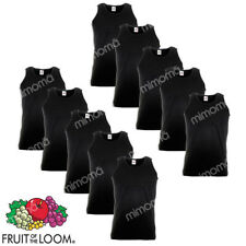 10 CANOTTE NERE CANOTTIERE UOMO FRUIT OF THE LOOM  VALUEWEIGHT