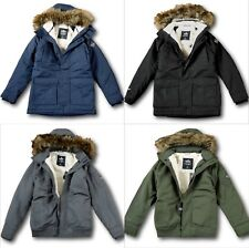 48aa62158 Native Youth Sherpa Fur Lined Hood Mens Parka Size S 36 38 Blue ...