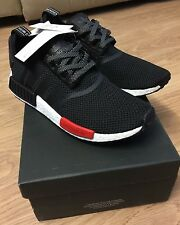 ADIDAS NMD_R1 BLACK/RED/WHITE AQ4498 LIMITED EDITION TRAINERS SIZE U.K 6.5.