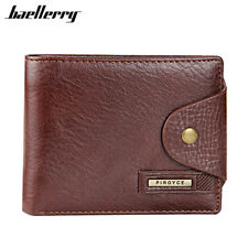 Genuine Leather Brown Design Wallets Xmas Gifts For Him Mens Father Son Brother