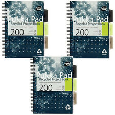 Pukka Pad A4 A5 Wirebound Recycled Project Book Notebook (6050/51) Pack 1 3 6