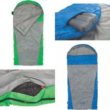 Coleman 2-IN-1 30°-70° Hybrid Sleeping Bag, Blue &Green Color Inflatable pillow