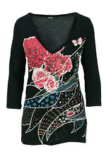 DESIGUAL T-SHIRT MANICA LUNGA DONNA TS KEPPARY 18WWTKAL GRAPHIC TEE