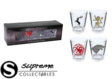 NEW Game of Thrones SHOT GLASSES Set Of 4 Glass STARK LANNISTER TARGARYEN Boxed