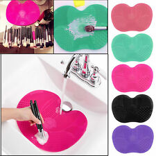 Silicone Makeup Brush Cleaner Washing Pad Scrubber Board Cleaning Mat Hand Tool