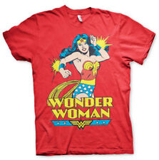 Official Licensed Wonder Woman Men's T-Shirt S-XXL (Red)