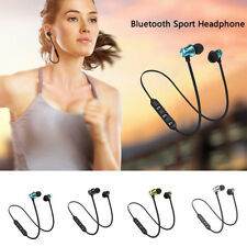 Sport Cuffia auricolari wireless stereo magnetici Bluetooth Con Mic In Ear