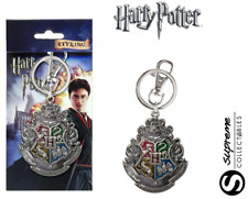 Official Harry Potter Hogwarts Crest Pewter Keyring Keychain Metal Deluxe New