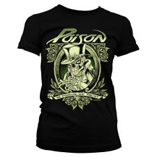 Official Licensed In Poison We Trust Metal Rock Band Girly T-Shirt S-XXL (Black)