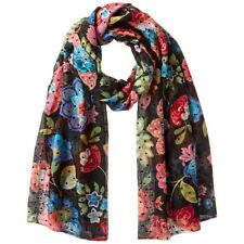 Foulard rectangle Caribou Noir Femme Desigual