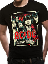 Acdc Highway To Hell Cartoni Black Rock Unisex Taglie: M,L,XL,XXL Nuovo