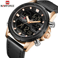Luxury Brand Watches Black Leather Fashion Sports Digital Xmas Gifts For Him Men