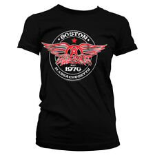 Aerosmith - Est. 1970 Boston Official Licensed Ladies Fitted T-Shirt S-XXL