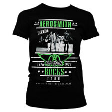 Aerosmith ROCKS Tour Band Official Licensed Ladies Fitted T-Shirt S-XXL