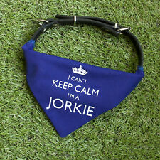 I'm A Jorkie Bandana Neckerchief | Red or Blue | Gift for dogs & puppies