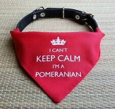 I'm A Pomeranian Bandana Neckerchief | Red or Blue | Gift for dogs & puppies