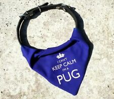 I'm A Pug Dog Bandana Neckerchief   Red or Blue   Gift for dogs & puppies