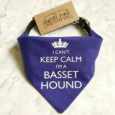 I'm A Basset Hound Bandana | Collar neckerchief | Gift for dogs puppies & owners