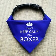 I'm A Boxer Dog Bandana | red or blue collar neckerchief | gift for dogs puppies