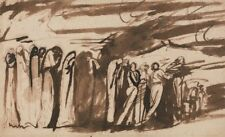 Procession Damned Study Damned In Dantes Inferno George Romney  Art Poster/Pho