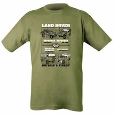LANDROVER T-SHIRT MEN BRITISH ARMY MILITARY WW2 TEE TOP CLASSIC LAND ROVER 4x4