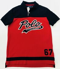 Ralph Lauren Polo Shirt Custom Slim Fit Red And Navy